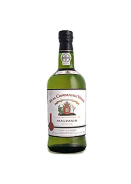 Vinho do Porto Real Companhia Velha Malvasia Branco com caixa de cartão