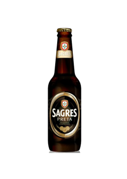 Cerveja Sagres Preta Garrafa 33CL