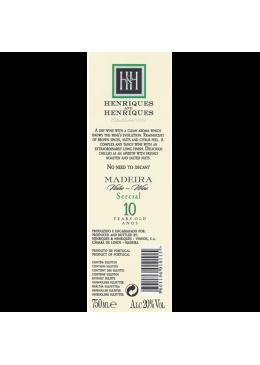 Vinho da Madeira Henriques & Henriques Sercial 10 Anos