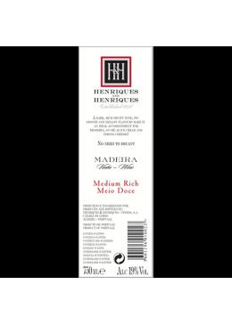 Vinho da Madeira Henriques & Henriques Meio Doce 3 Anos