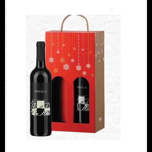 Pack de Natal 2 Garrafas Vinho Regional Douro Pérola Tinto