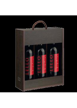 Pack de Natal 3 Garrafas Vinho Douro Lello Tinto