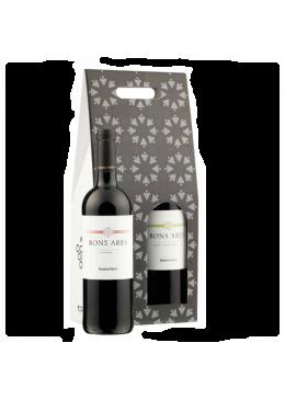 Pack de Natal 1 Garrafa Vinho Bons Ares Branco + Bons Ares Tinto